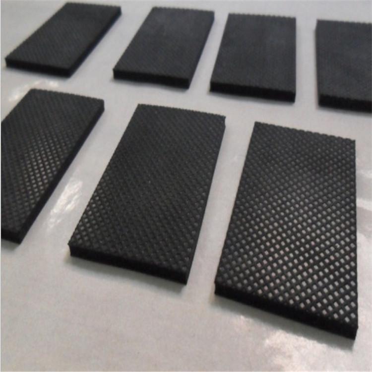 手機支架防滑硅膠墊片 黑色硅膠腳墊 防撞網格紋橡膠墊片定制