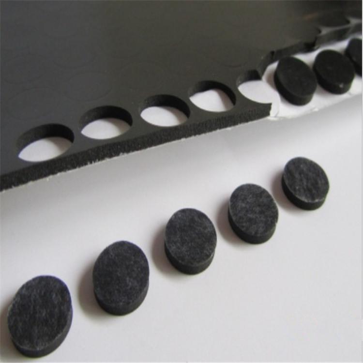黑色單面自粘橡膠腳墊 格紋環保硅橡膠墊 減震橡膠墊膠圈量多從優