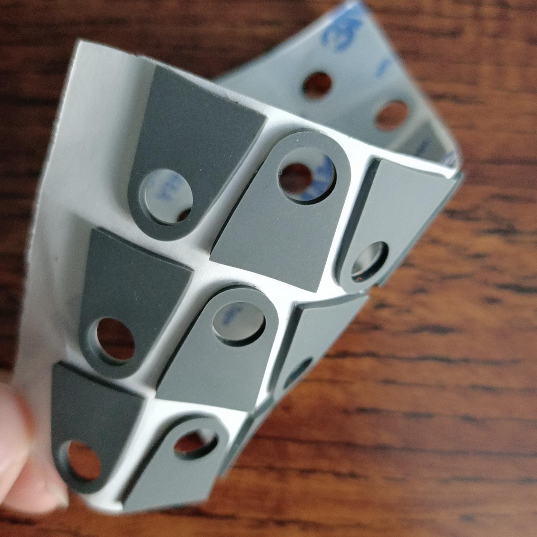 硅膠墊 減震腳墊 手機支架硅膠墊 圓形格紋帶膠腳墊 廠家定制