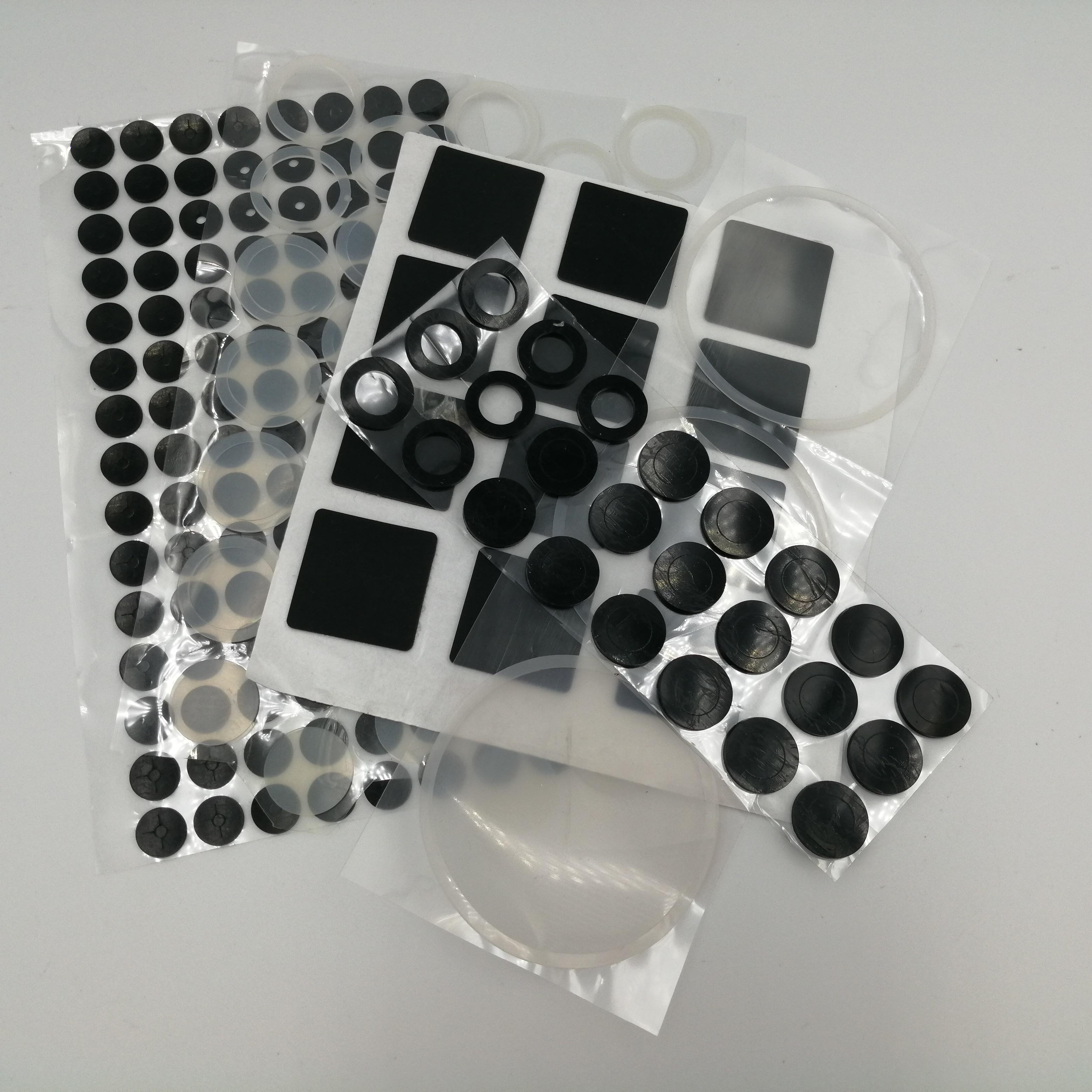自粘背膠硅膠板膠墊片防滑耐高溫橡膠密封件玻璃減震墊緩沖橡膠條