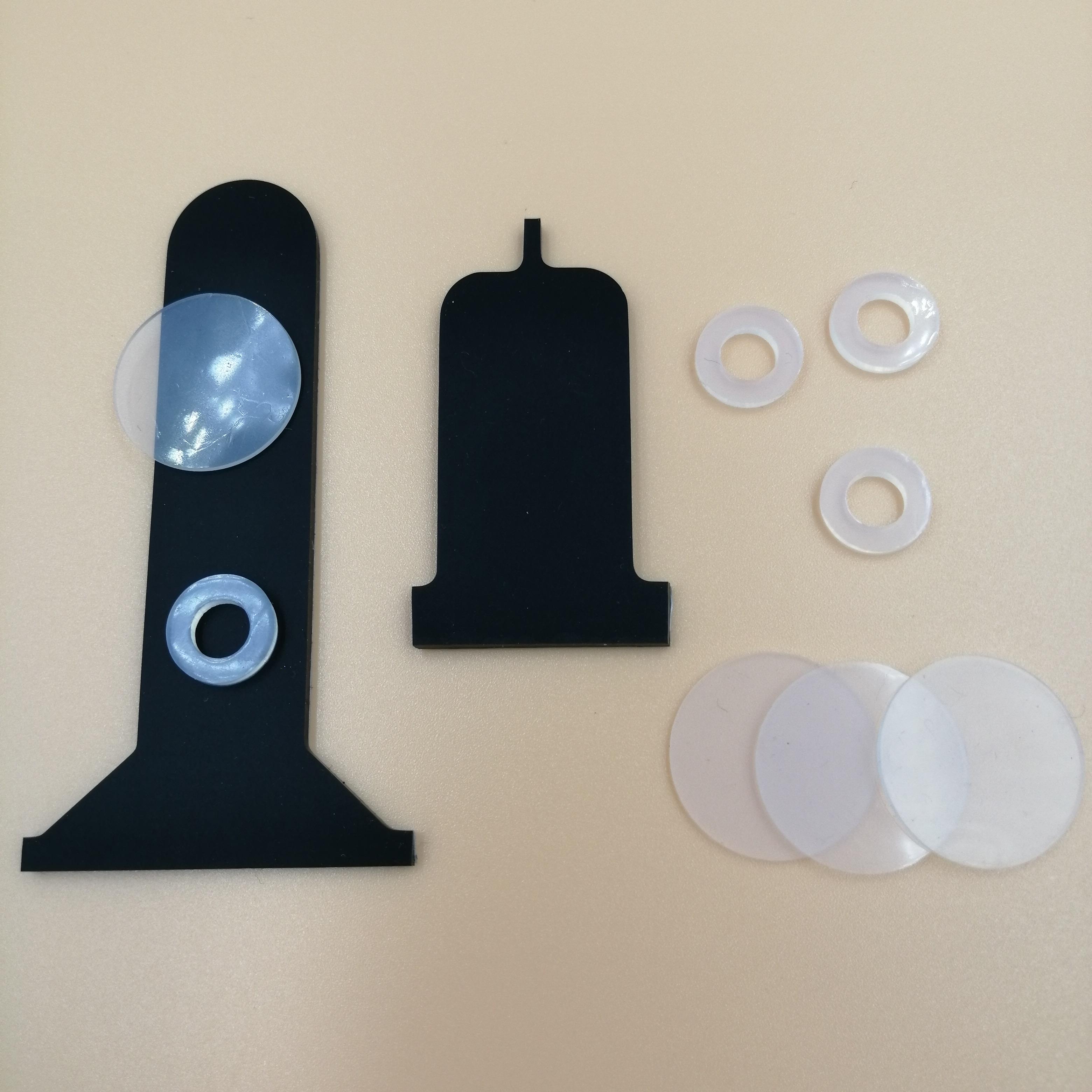 爆款磁吸無線充硅膠墊 乳白色灰色圓形硅膠腳墊 防滑硅膠墊可定制