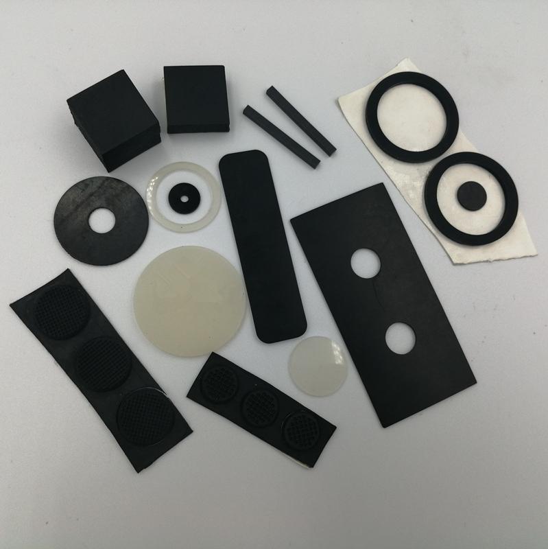 防滑硅膠墊圈 自粘透明硅膠墊圈 防水硅膠墊圈 黑色硅膠腳墊磨砂