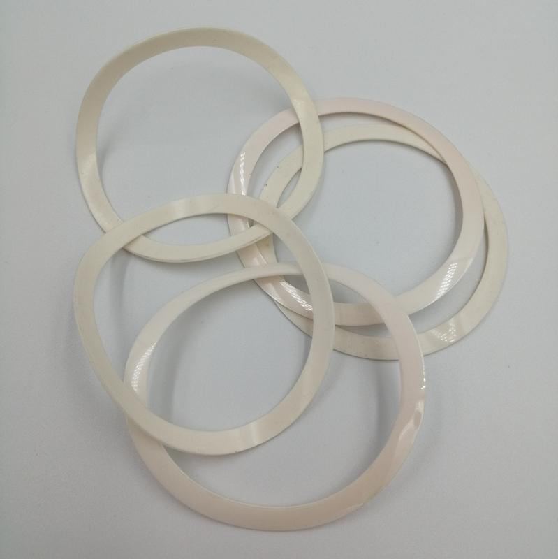 乳白色硅膠墊圈  白色硅膠防水圈 絕緣硅膠片 硅膠卷材單面背膠