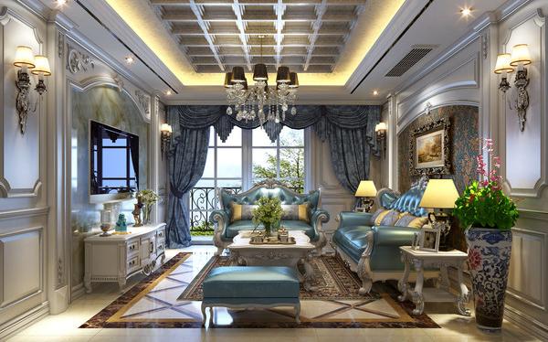 歐式復古室內裝修整體家居定制_鼎尚木業_現代_歐式復古風格