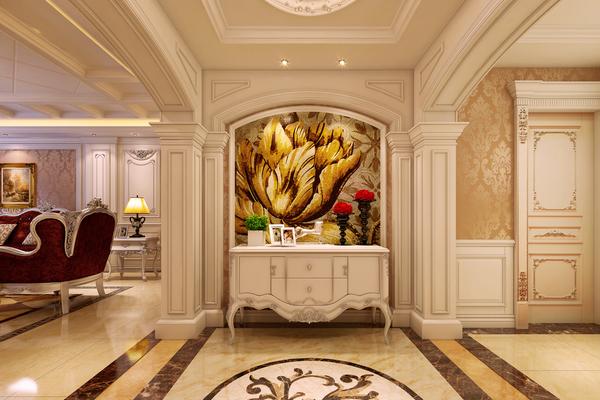 中式风格_公寓室内装修订做_鼎尚木业