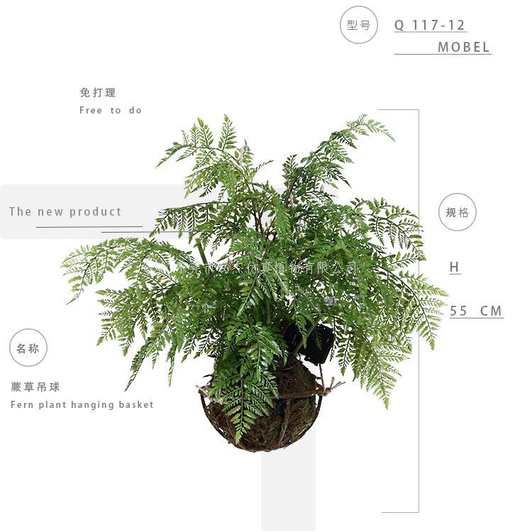 波斯草,仿真蕨草绿植吊球117-12