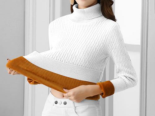 女士開衫毛衣套裝裙_來億針織廠_女式_中高端_棒針編織_尼龍