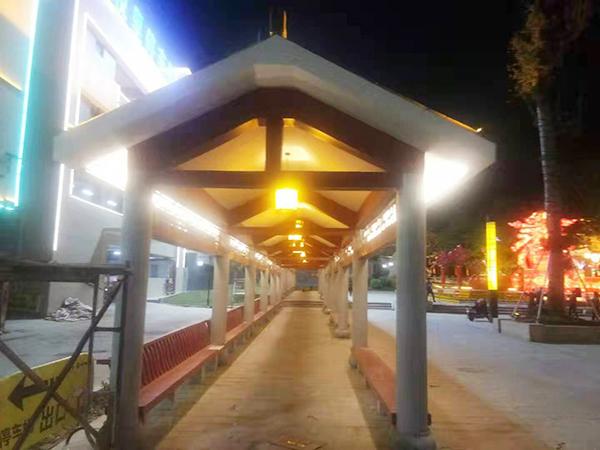 東岳公園門前廣場舞臺及連廊建設工程
