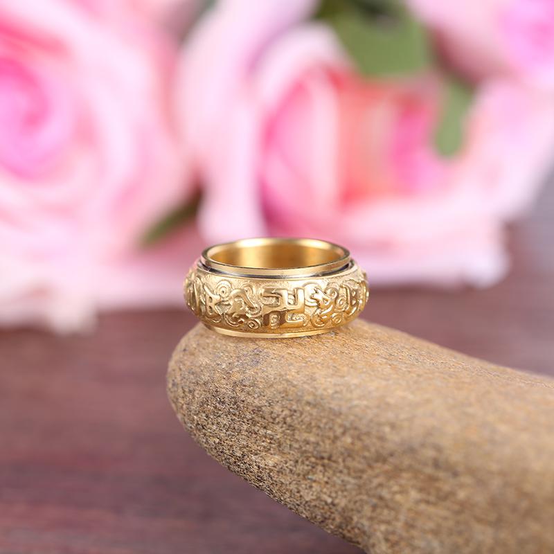 凝神戒指吊墜哪家信得過_安明飾品_鍍鋅_萬字符_寧神_心經