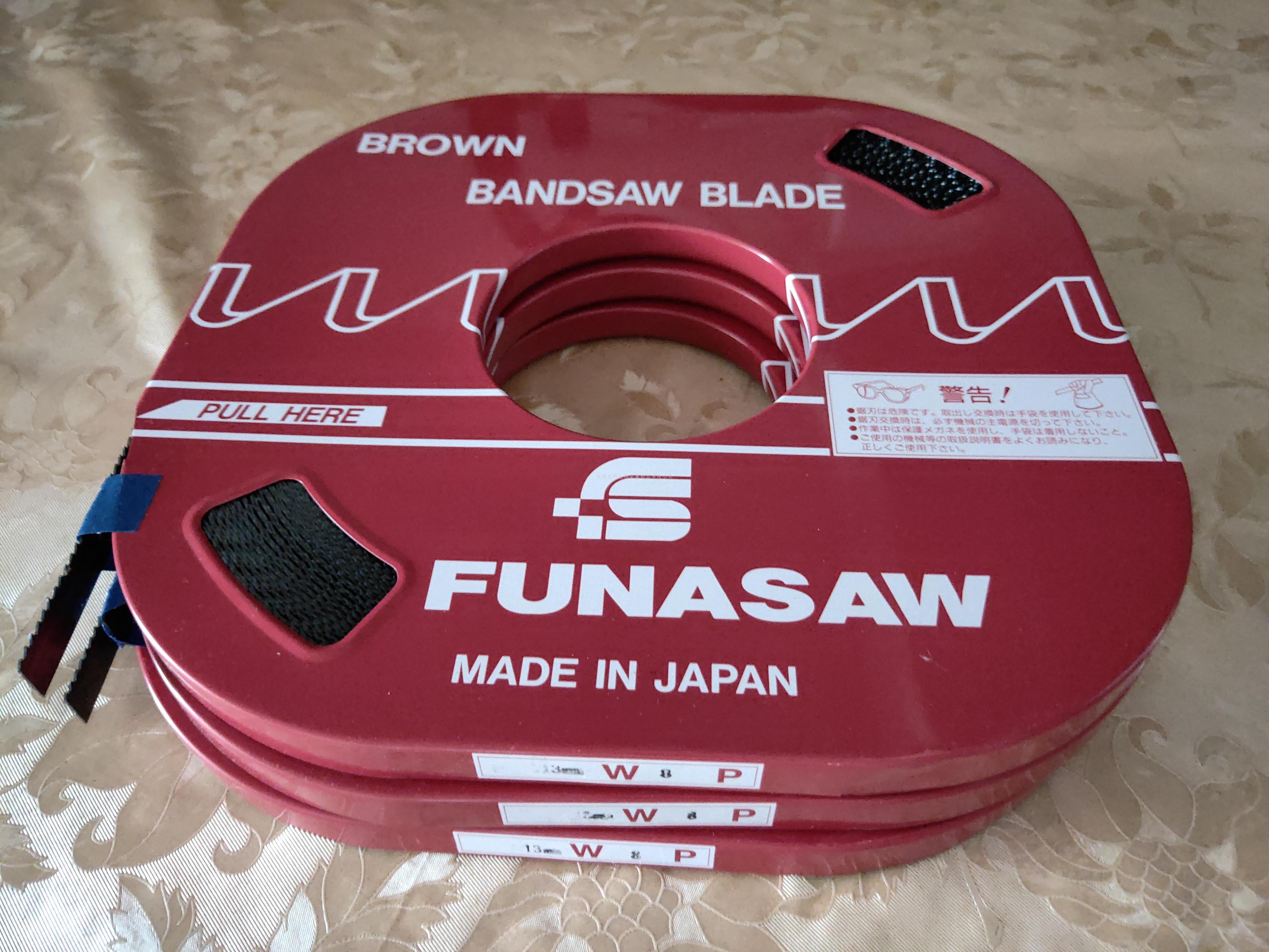 日本FUNASAW小盘带锯条