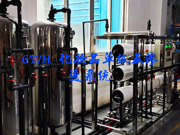 6T/H化妆品单级反渗透系统