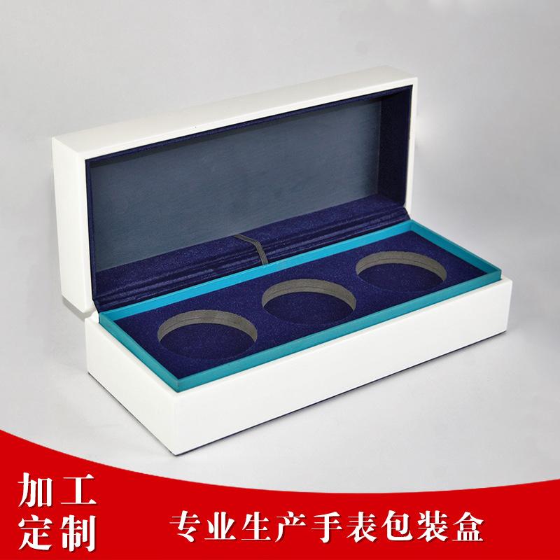 厂家专业生产外盒纯白色高光漆面手表盒 高档名表包装盒