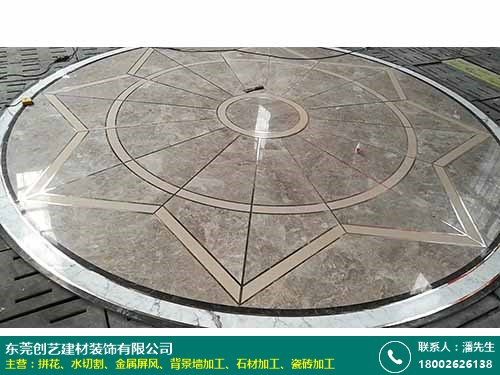 簡約金屬拼花大量生產_創藝裝飾_現代_瓷磚地面_弧形_圓形