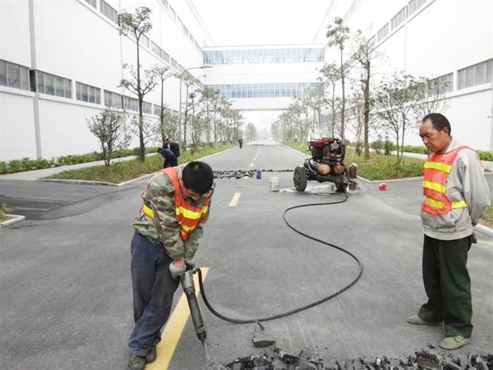 工厂道路改建