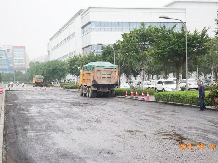 东莞市工厂道路改建