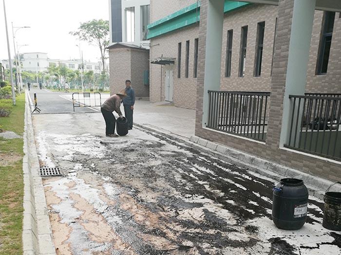 中铁二局部分道路摊铺沥青施工工程