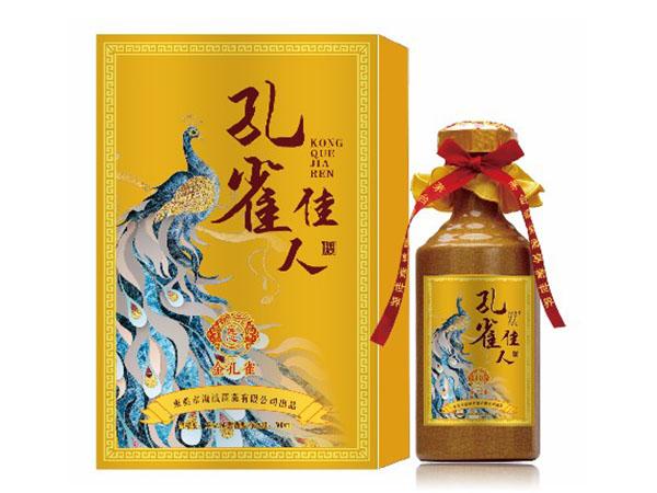 金孔雀醬香型白酒