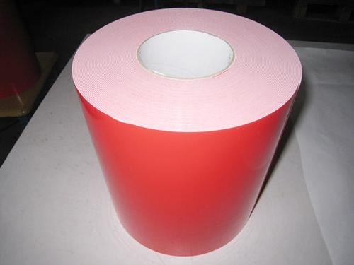 1.0紅膜白 PE汽車泡棉雙面膠帶