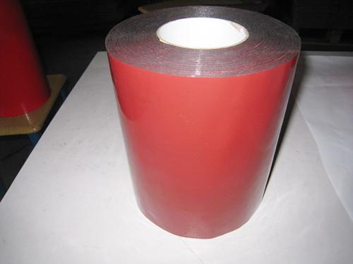 1.0红膜黑 PE汽车泡棉双面胶带