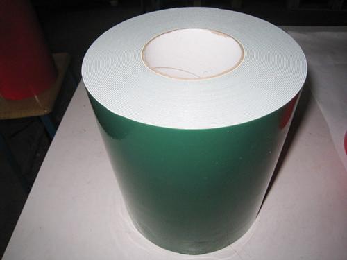 1.0 綠膜白 PE汽車泡棉雙面膠帶