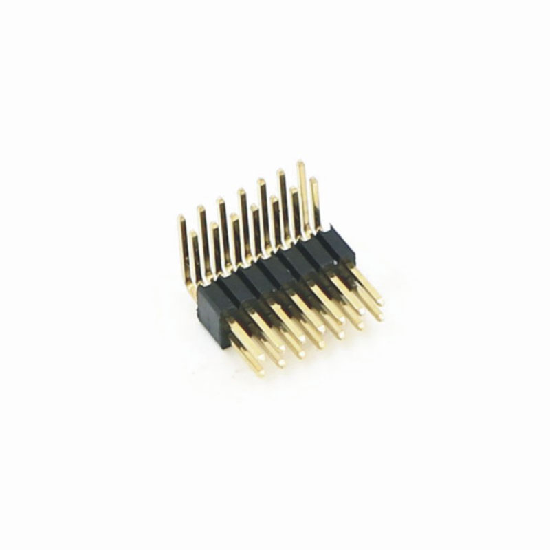 """1.27mm Pitch (.050"""")彎插排針連接器"""