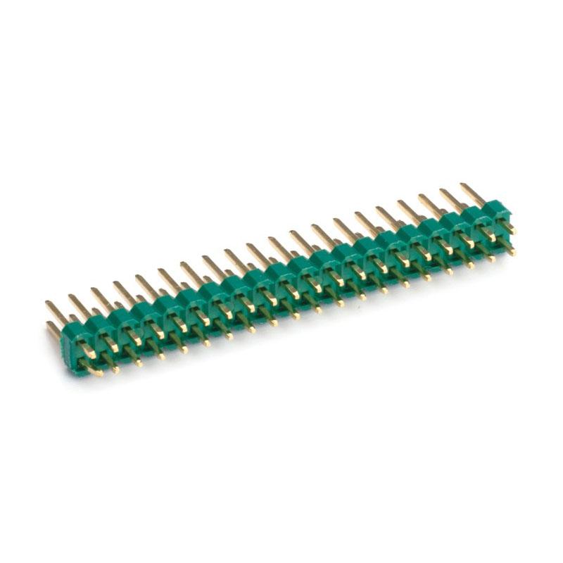 """2.00mm Pitch (.079"""")綠色直插排針連接器"""