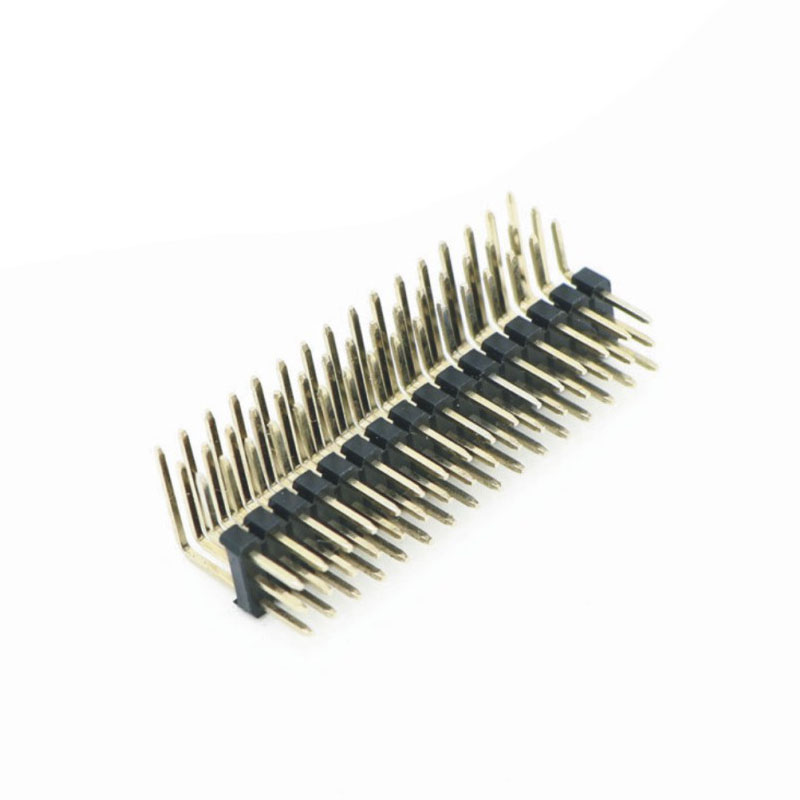 "2.54mm Pitch (.100"")三排彎插排針連接器"