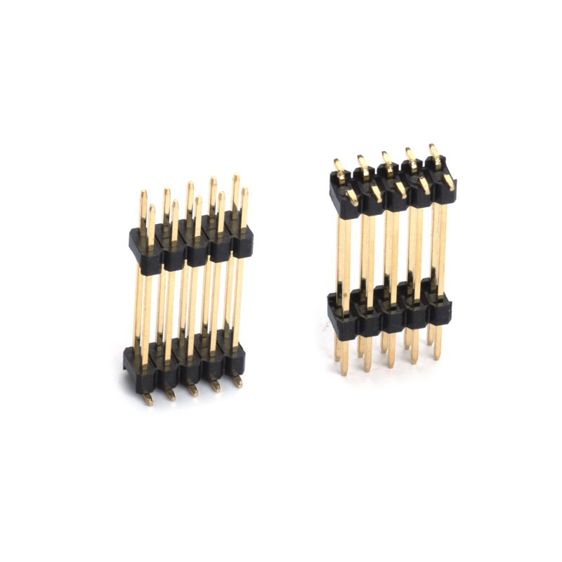 """2.54mm Pitch (.100"""") 雙塑貼片排針連接器"""