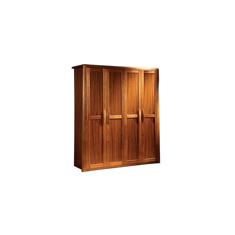 钦州红色实木衣柜_江泰华洋家具_整体_定做_中式_红木_家具