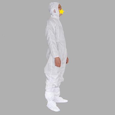白色連帽防護服
