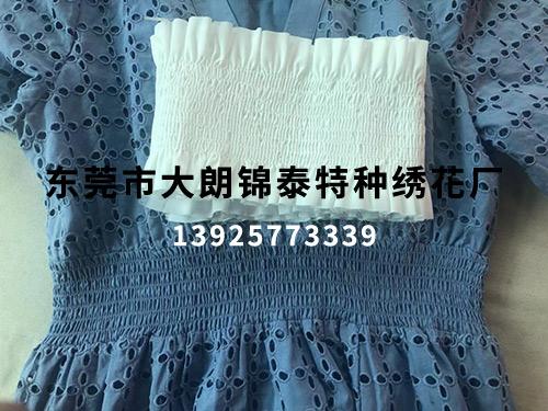 蓝色裙子打缆