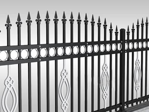 银色花纹弧形围栏|东莞市凤岗家源金属门窗厂
