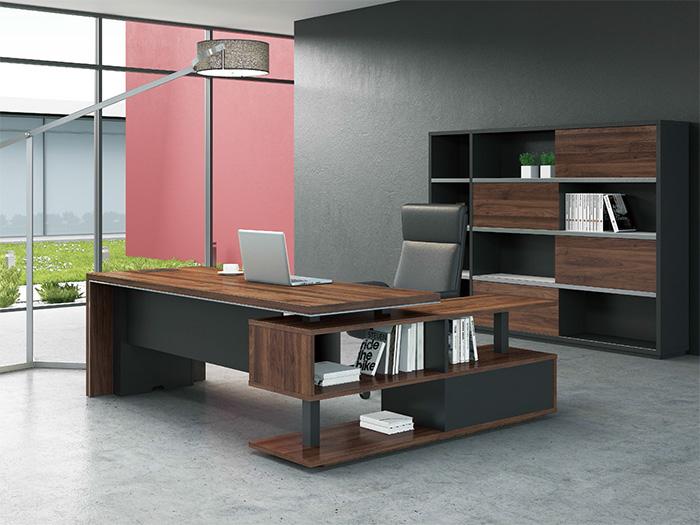 实木板式办公室行政桌