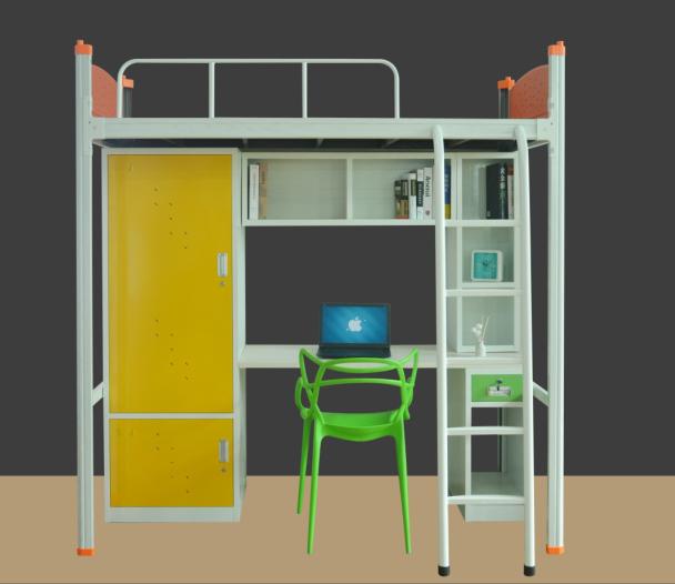 鳳崗鐵床價格 品優家具 學生 上下鋪 白色 宿舍 單層 上下層