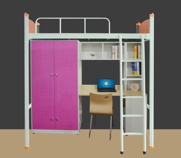 鳳崗鐵床多少錢 品優家具 宿舍 上下 學生 白色 單層 工廠宿舍