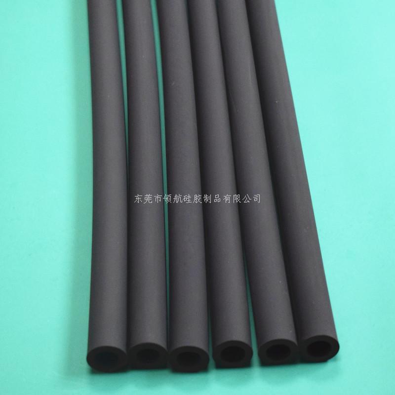 黑色磨砂雾面硅胶管