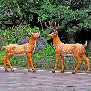 梅花鹿雕塑定制景觀雕塑