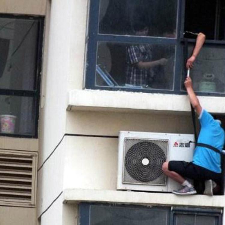室外_外墙清洁高空作业哪家强_绿多环保