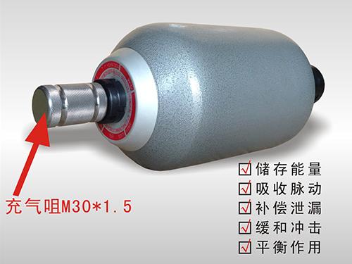 秦皇島碳鋼蓄能器有沒有氮氣_液壓機用_皮囊式_力研液壓