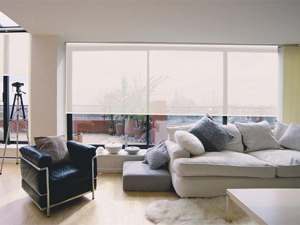 惠州遮阳办公卷帘生产厂家 满满窗饰 电动 阳光面料 防紫外线
