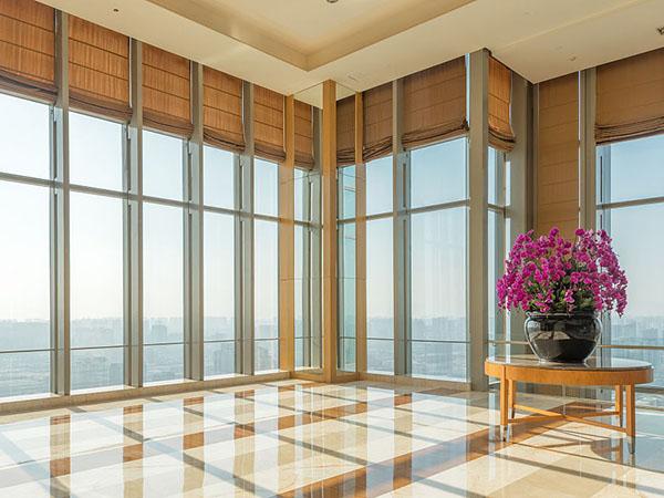 惠州手动拉珠办公卷帘 满满窗饰 阳光面料 玻璃纤维 欧式 办公楼