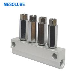 單線潤滑系統魯布加壓式分配器4位