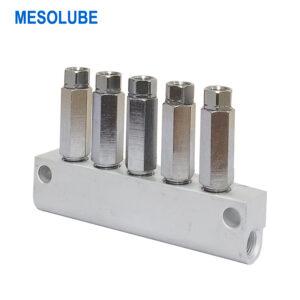 單線潤滑系統魯布加壓式分配器5位