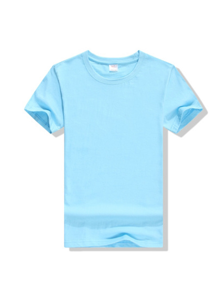 天蓝色广告衫、T恤衫