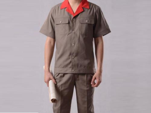 汕头防风工作服 品一制衣厂 涤纶 不掉色 CVC 耐磨 立领