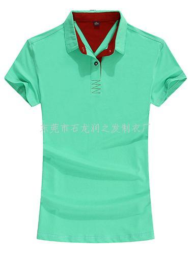 果绿T恤衫