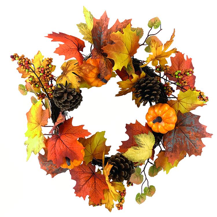 秋季風花圈