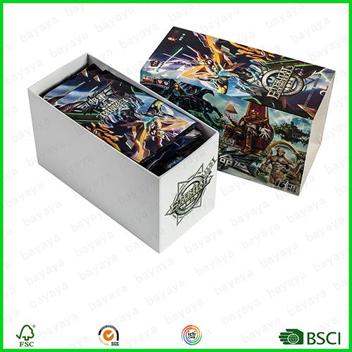 foil card with cardboard box