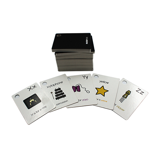 Child Ring Flash Cards Games Custom Table Game Full Color Printed Flash Memory Card Game