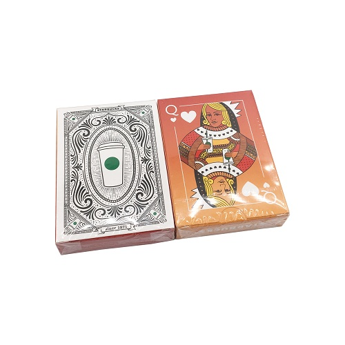 100% New Eco-friendly Plastic Poker Cards and box